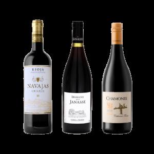 Navajas Rioja Crianza Tinto, Domaine de la Janasse Cotes du Rhone, Chamonix Cabernet Franc