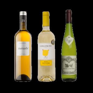 Menade Organic Sauvignon Blanc, Gorgorito Verdejo, Palacio de Fefinanes Albarino